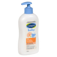 Mild, tear free moisturizing wash. Lathers up and rinses clean. Convenient pump format.
