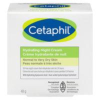 Cetaphil - Face Hydrating Night Cream - Normal To Dry Skin, 48 Gram