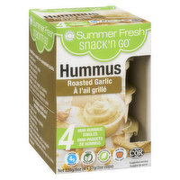 Summer Fresh - Hummus Roasted Garlic, 4 Each