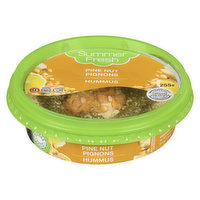A special mix of roasted pine nuts & fresh chickpeas placed on top of our original hummus, creating a perfectly textured hummus. Gluten free, kosher, non-GMO, vegan, no preservatives.