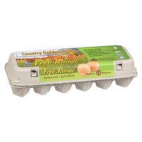 Golden Valley - Country Golden Yolks Free Range Brown Eggs, 12 Each