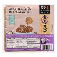 Superior Tofu - Savory Pressed Tofu, 350 Gram