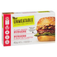 4 plant based burgers,100% meat free.