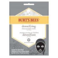 Burt's Bees Burt's Bees - Detoxifying Charcoal with Honey Sheet Mask, 1 Each