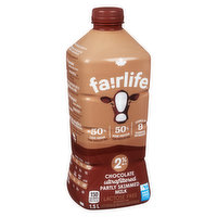 Rich and creamy Fairlife chocolate ultra-filtered milk has half the sugars of ordinary chocolate milk and 50% more protein. Finally an indulgence you can feel good about.