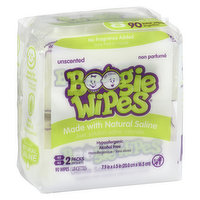 Boogie WIpes Boogie WIpes - Gentle Saline Wipes for Stuffy Noses - Unscented, 90 Each