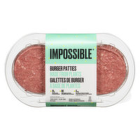 Impossible Foods - Plant-Based Burger Patties, 2 Each