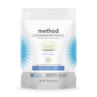 Method Method - Dishwasher Dtrgnt - Packs Power Dish Free & Clear, 300 Gram