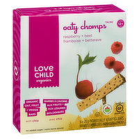 For 12+ Months. 6 x 23g Individually Wrapped Organic Oat, Fruit + Veggie  Bars with Chia. No Sugar Added.
