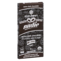 Zazubean Zazubean - Organic Nudie Extra Dark Chocolate Bar, 85 Gram