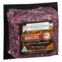 Carmen Creek - Extra Lean Ground Bison, Frozen, 454 Gram