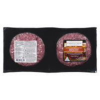 Contains 2X151g uncooked extra lean bison patties. Keep frozen.