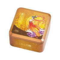 Hong Kong Mei Xin - White Lotus Mooncake w/ 2 Yolk, Single Pack, 185 Gram