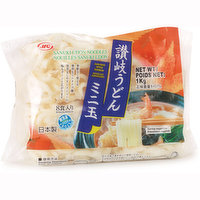 Sanuki udon noodles have a square shape and flat edges. Typically served in soup. Contains 8 pieces.
