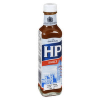 HP Sauce has a malt vinegar base, blended with tomato, dates, tamarind extract, and spices.