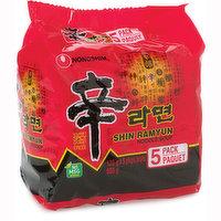 Nong Shim - Shin Ramyun Noodle Mushroom, 5 Each