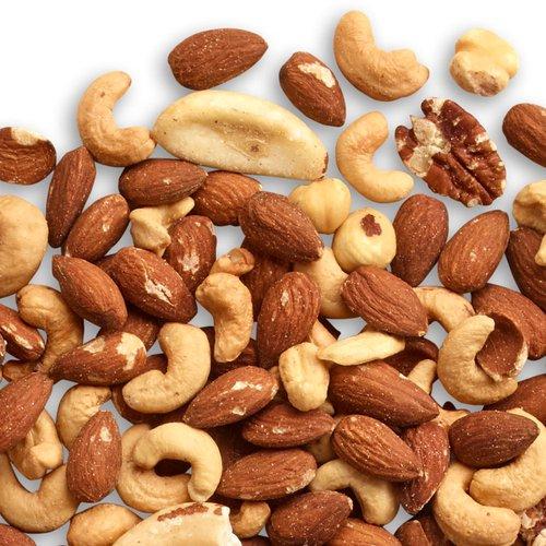 A rich blend of roasted Almonds, Cashews, Pecans, Hazelnuts & Brazil Nuts.