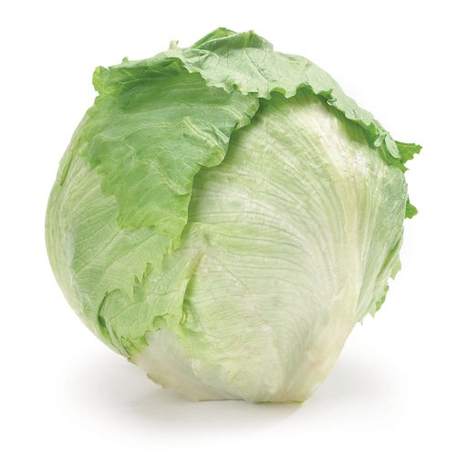 No.1 Grade.  Iceberg (or crisphead) lettuce is a round, tightly-packed head of pale green leaves. It has a crisp texture and a mild flavour and is mainly used fresh.