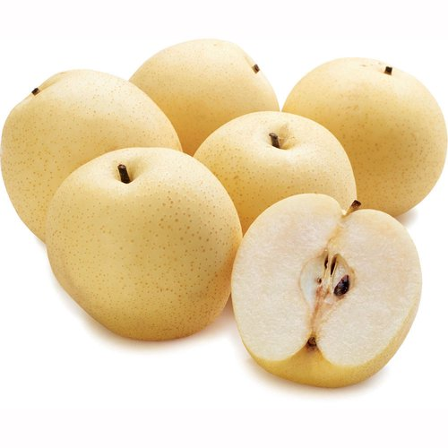 Prized for their Crunchy Texture the Creamy White Flesh of the Asian Pear is Exceptionally Juicy with a Sweet Low Acid Flavor and Fragrant Aroma.