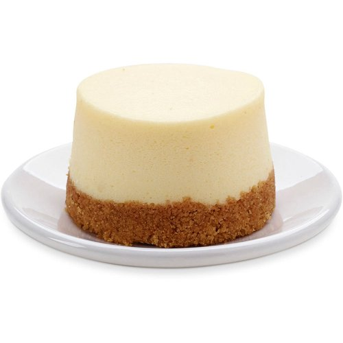 A 2in classic vanilla cheesecake! Cream cheese and sour cream mixture, featuring authentic Philadelphia cream cheese  baked to perfection on a moist but sturdy graham cracker crumb base.