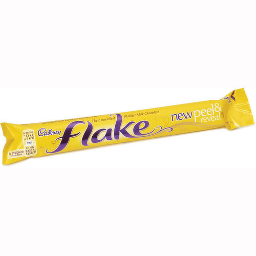 The Crumbliest Flakiest Milk Chocolate.