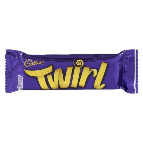 Two fingers of indulgent chocolaty swirls covered in milk chocolate.