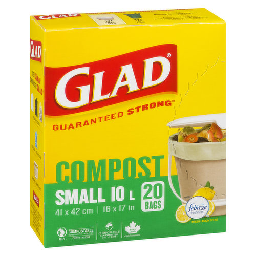 20 Small Easy Tie with Odour Guard. 41.4cm x 41.9cm. 16.3in x 16.5in.