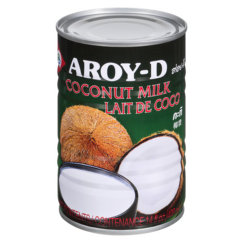 Aroy D coconut milk is traditionally prepared by squeezing grated coconut meat through cheesecloth. It is a great addition to desserts, soups, and general cooking.