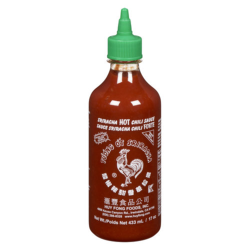 Made from a Paste of Chili Peppers, Distilled Vinegar, Garlic, Sugar, and Salt.