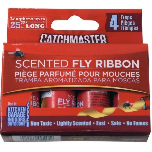 Specially formulated and lightly scented, these bug and fly catchers are for household and farm use. Simply unroll and hang to control flying insects. Trap Size: 1.5 in. W x 25 in. L.