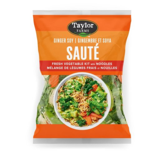 Bursting with fresh flavors and tossed in a delectable Ginger Soy Sauce. Packed with nutritios veggis such as broccoli, brussels sprouts, snow peas, carrots, kale, bok choy and green cabbage and accompanied by fresh Yakisoba noodles.