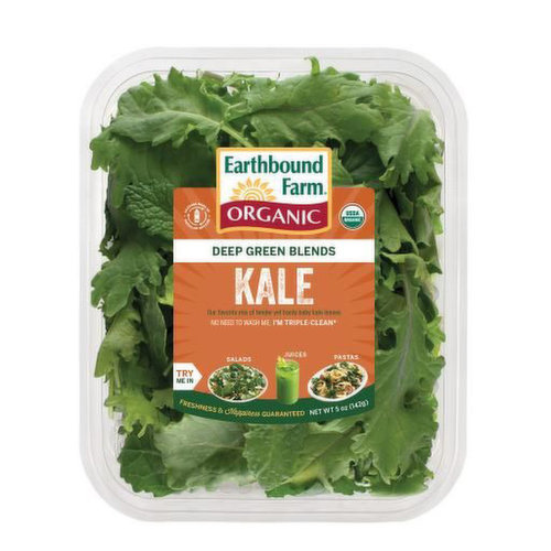 Deep Green Blends. No Need to Wash, Triple Clean. Great for Salads, Juices and Pastas.
