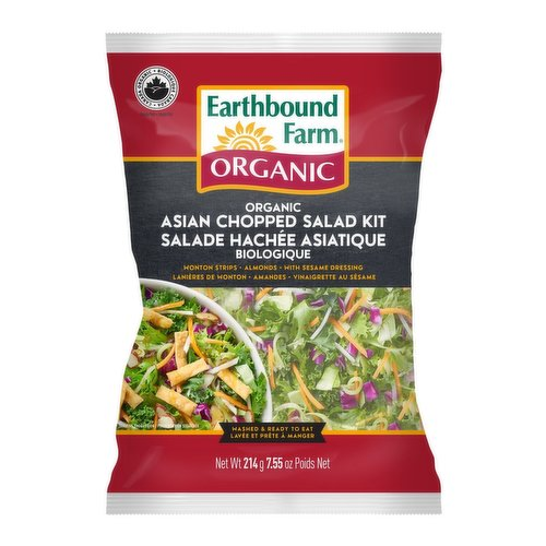 Bold and zesty, this kit features cabbage, romaine, kale, carrots and cilantro, accompanied by crunchy toppings and tahini dressing.