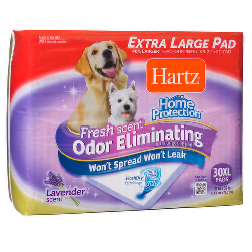 Lavender scented extra large pad, fresh scent that wont spread, wont leak.