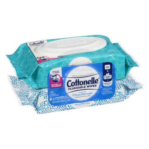 Fresh Care Refills 2x42 Packs = 84 Cloths, Sewer and SepticSafe