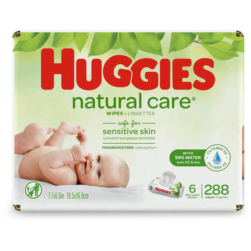 Dermatologically tested, paraben & alcohol free, these baby wipes are safe for sensitive skin. Hypoallergenic, fragrance & alcohol free, contains aloe & vitamin E. 6x48 =288 pack.