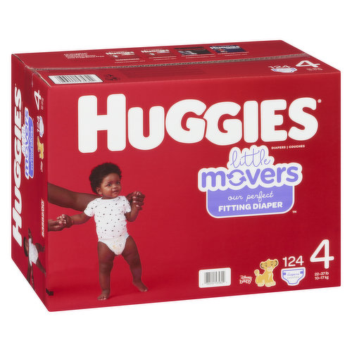 Size 4. 22-37lb. 124 diapers.
