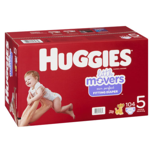 Size 5. Over 27lb. 104 diapers.
