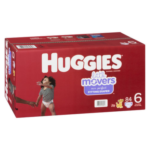 Size 6. Over 35lb. 84 diapers.