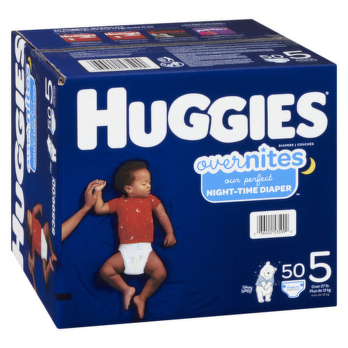 Size 5. Over 27lb. 50 diapers.