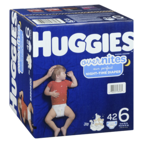 Size 6. Over 35lb. 42 diapers.