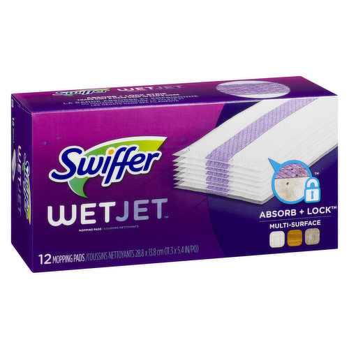 Loosens dirt and lifts it off the floor, pulling dirt and grime into the pad and locking it away for good. Contains 12 mopping pads for use with WetJet  floor spray mop.