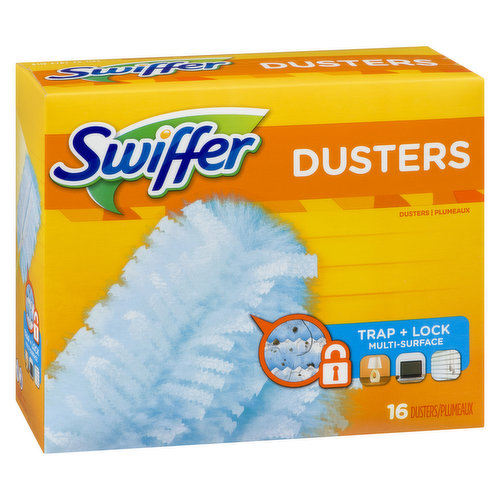 16 Disposable Dusters Traps & Locks Dirt 3X More.
