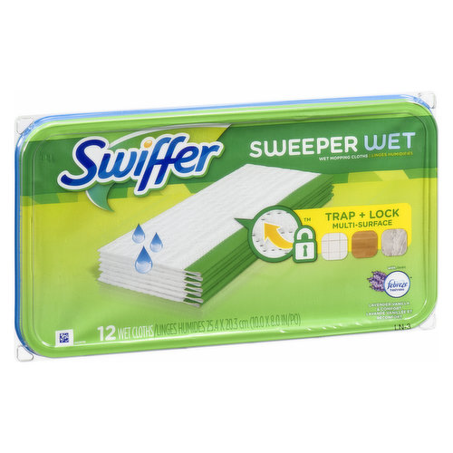 With Febreze. Wet Mopping Cloth Cleansers Lock in Dirt Deep in Cloth.