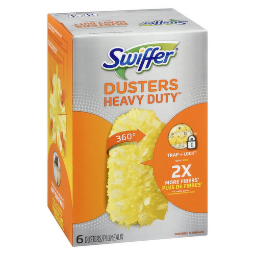 6 Disposable Dusters Traps & Locks Dirt 3X More.