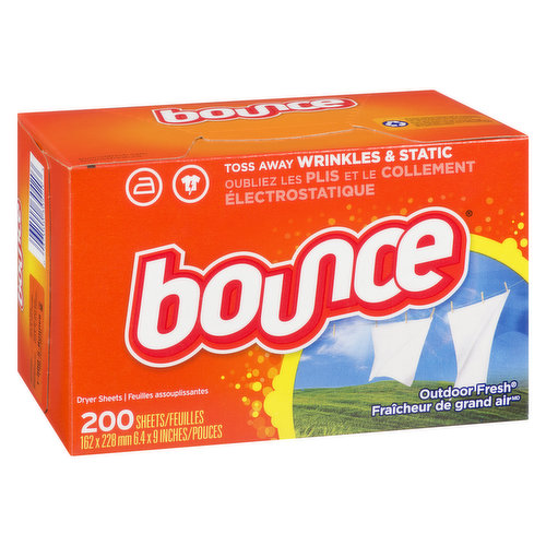 4in1 Bounce dryer sheets are great for controlling static cling in fabrics. Plus, Bounce sheets help repel lint and hair, soften fabrics, and give you long-lasting freshness.
