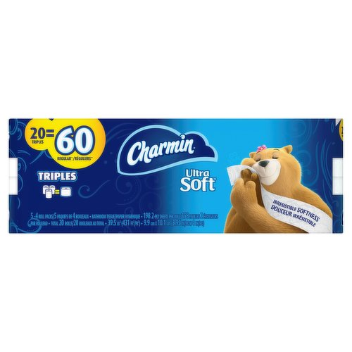 Looking for an irresistibly soft toilet paper in a long lasting roll? Charmin has got you covered.
