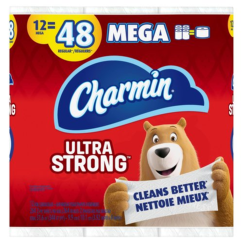 Cleans better. 12 mega=48 regular. 12 rolls. 264 2-Ply sheets per roll.