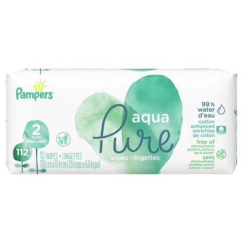 Crafted with 99% water, a touch of premium cotton, and 1% of our gentle cleansers  Aqua Pure wipes are clinically proven hypoallergenic for a clean thats gentle on babys delicate skin.