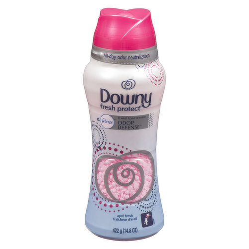Deodorant for your clothes! Downy Fresh Protect In-Wash Odor Shield keeps you smelling great all over. Motion-activated fresheners neutralize bad odors a fresh scent as you move through your day.